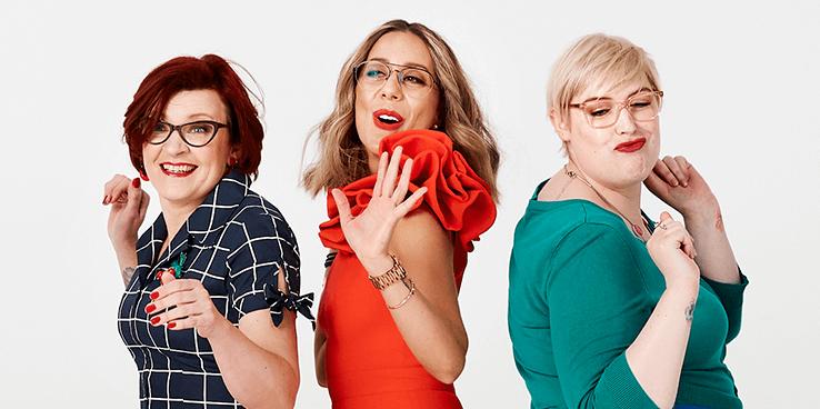 Three women having a boogie