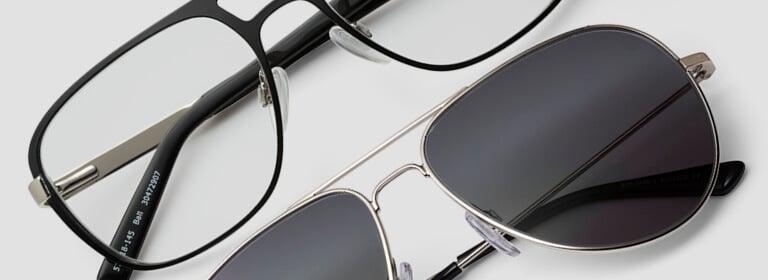 Aviator style glasses
