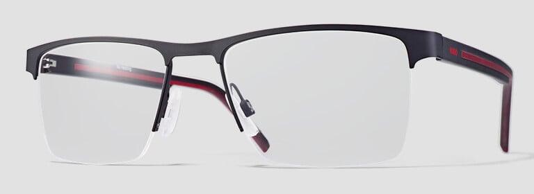 Semi rimless glasses