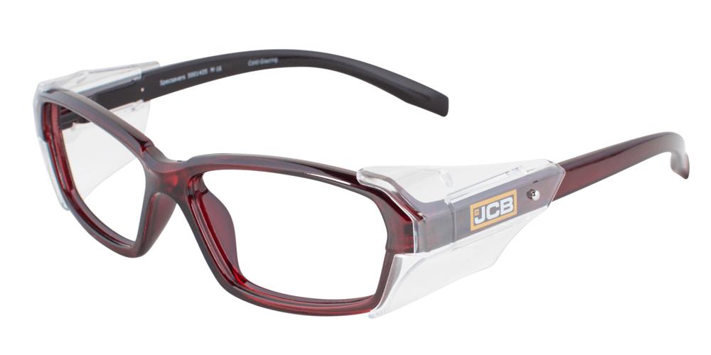 JCB 3CX red prescription safety glasses
