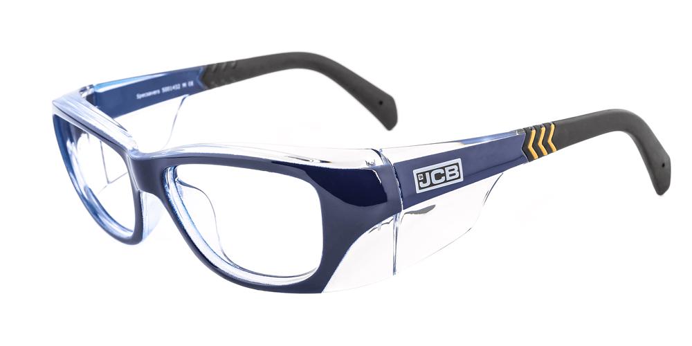 JCB 5CX blue prescription safety glasses