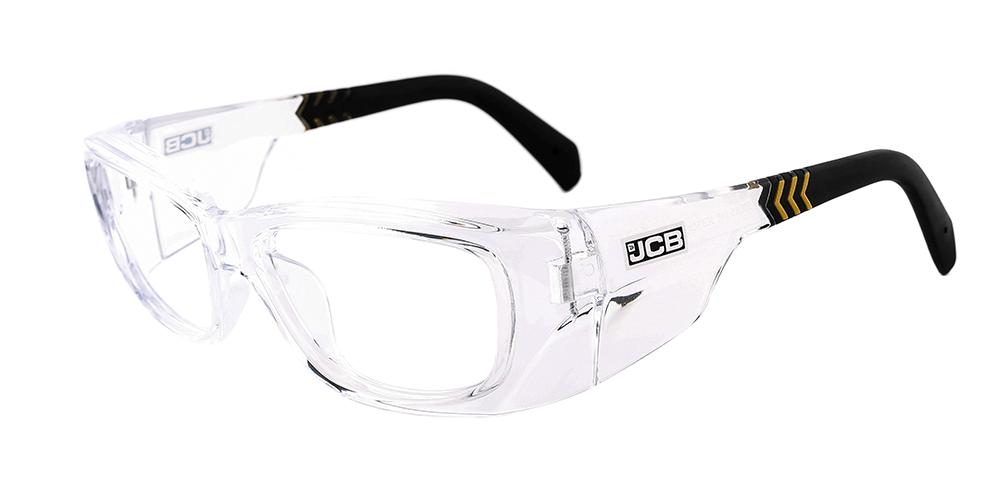 JCB 5CX clear prescription safety glasses